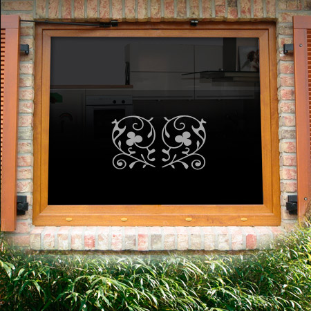 Fensterdekor Klee
