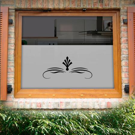 Fensterfolie als Sichtschutz motiv Eisenhut