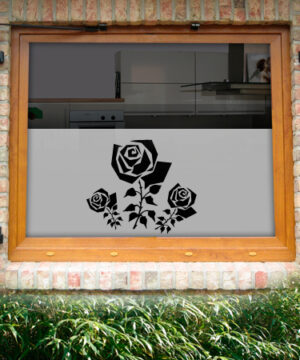 Fensterfolie Rose