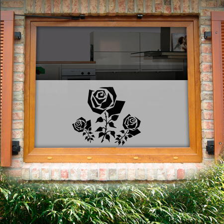 Fensterfolie Rose