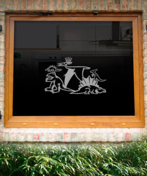Fensterdekor Dinos