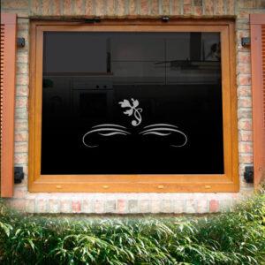 Fensterdekor Malve