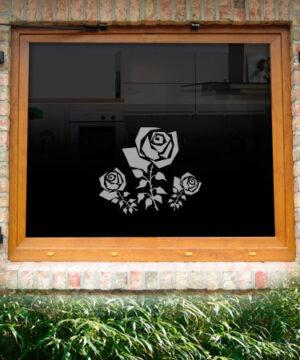 Fensterdekor Rose