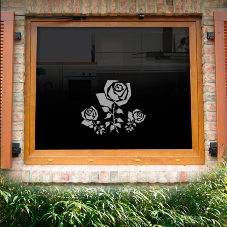 Fensterdekor Rose
