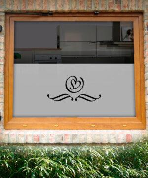 Fensterfolie Herzblatt