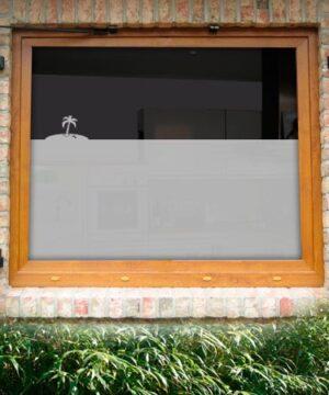 Fensterfolie Palme