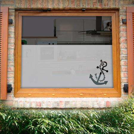 Fensterfolie mit Anker