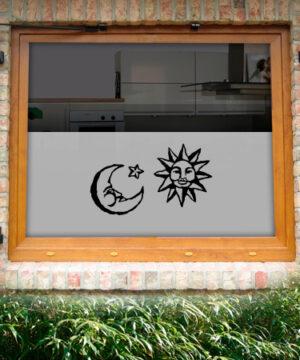 Fensterfolie Sonne Mond
