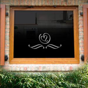 Fensterdekor Herzblatt