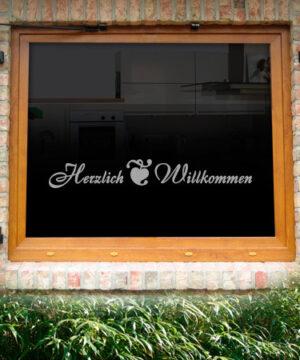 Fensterdekor Herzlich Willkommen