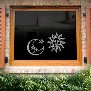 Fensterdekor Sonne Mond