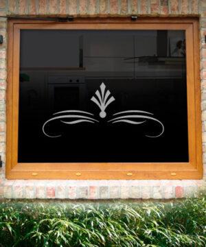 Fensterdekor Eisenhut