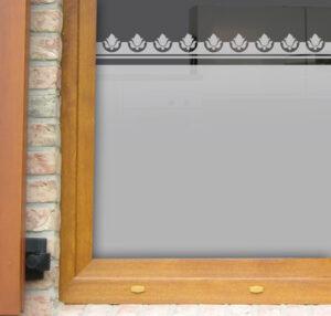 Fensterfolie mit Bordüre Rose