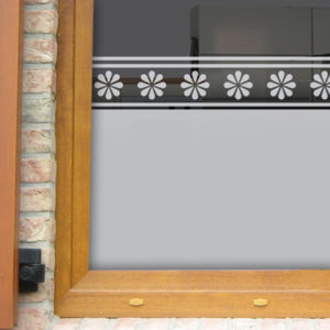 Fensterfolie mit Bordüre Gerbera