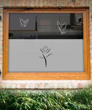 Fensterfolie Art Rose