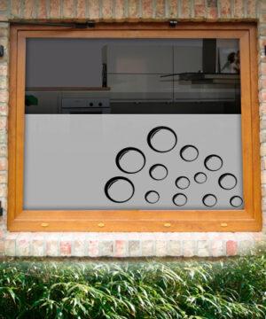 Fensterfolie Blubberblasen