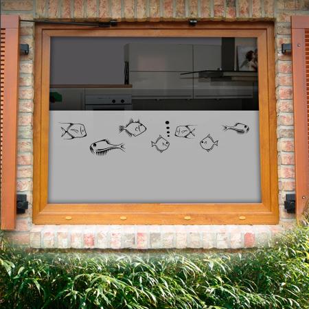 Fensterfolie moderne Fische
