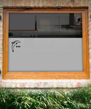 Fensterfolie Delfin mit Text