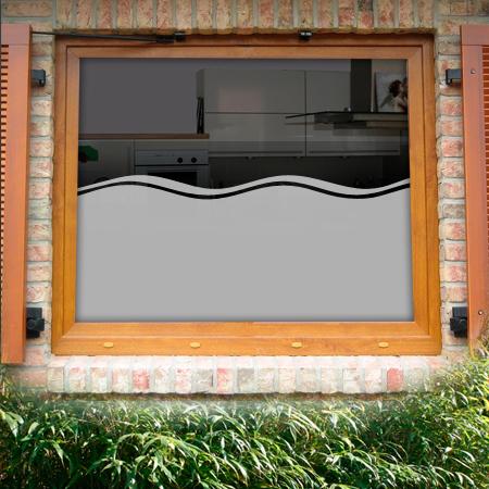Fensterfolie Wogen