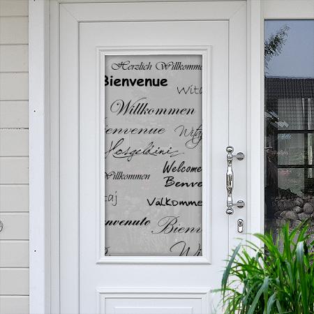 Sichtschutzfolie für Türen Willkommen