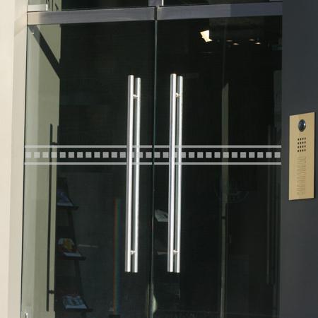 Glastür Kennzeichnungsfolie Zipper