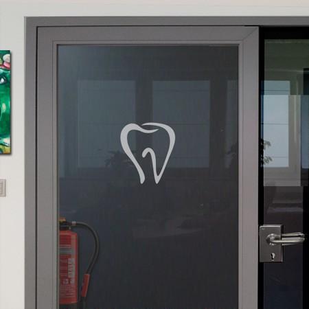 Zahnaufkleber für Glastüren