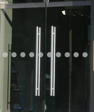 Glastür Aufkleber Big Point 7 x 5 cm