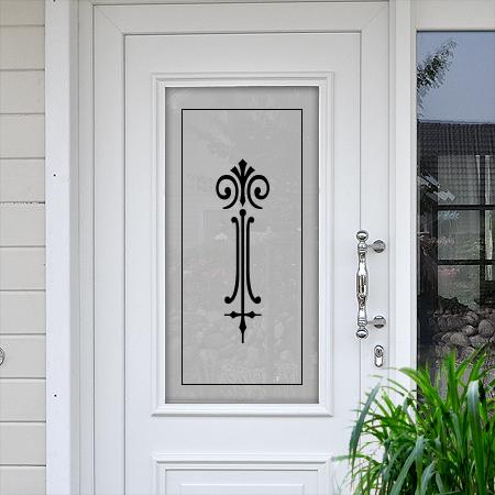 Sichtschutzfolie für Türen Lanze mit Rahmen
