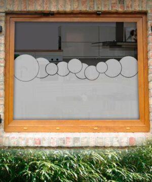 Fensterfolie mit Seifenblasen