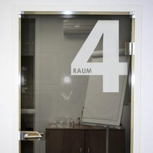 Raumnummer Aufkleber