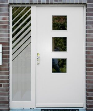 Sichtschutzfolie für Haustür seitenteile Diagonalstreifen