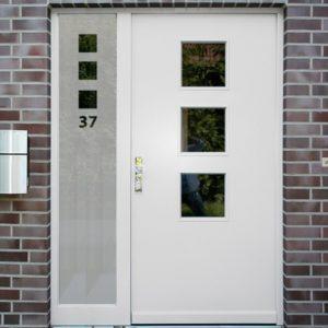 Sichtschutzfolie für Haustür Seitenteile Quadrate mit Hsnr.