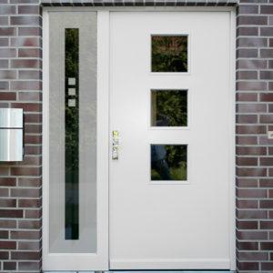 Sichtschutzfolie für Haustür Seitenteile Quadrate
