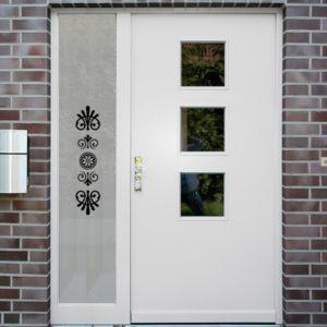 Sichtschutzfolie für Haustür Seitenteile Artdeko