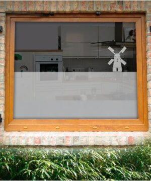 Fensterfolie Mühlenmotiv