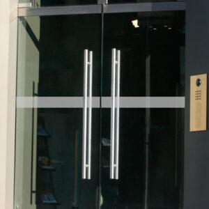 """Glastür Kennzeichnung """"Line"""""""