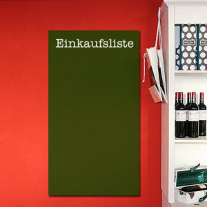 Tafelfolie Einkaufsliste in grün