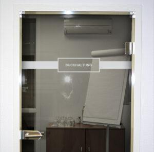 Glastürkennzeichnung Raumbezeichnung