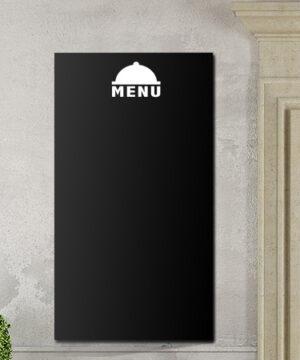 Tafelfolie Menü Dekor in schwarz