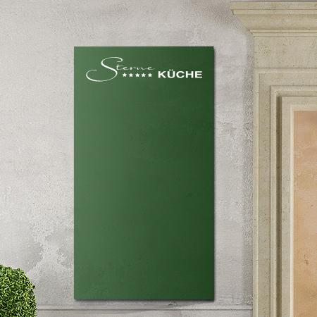 Tafelfolie Dekor Sterneküche in grün