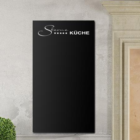 Tafelfolie Sterneküche in schwarz