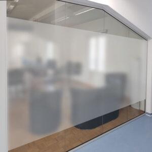 Bürofolie in Ice Etched Optik