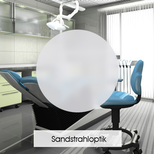 Sichtschutzfolie für Büros in Sandstrahloptik