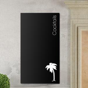 Tafelfolie Cocktail Dekor in schwarz