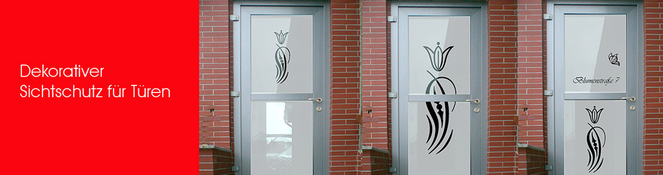 Dekorativer Sichtschutz für Ihre Haustüren