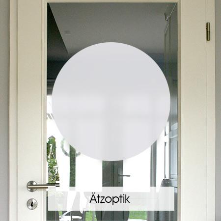 Sichtschutzfolie in Ätzoptik