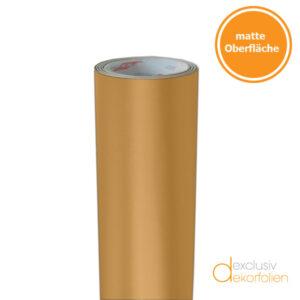 Goldene Klebefolie matt