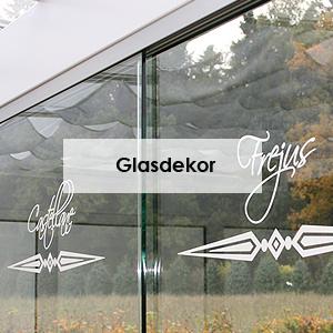 Glasdekor für Fenster