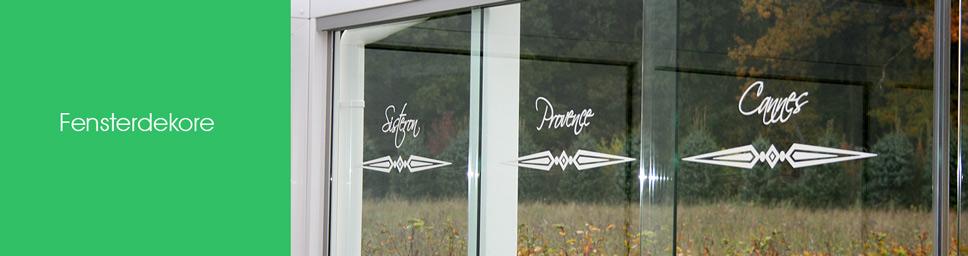 Fensterdekore mit Motiven