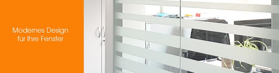 Sichtschutzfolie mit Streifendesign